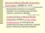 american mental health counselors association amhca 1976