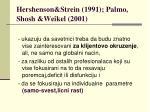 hershenson strein 1991 palmo shosh weikel 2001