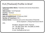 fla thailand profile in brief