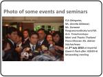 photo of some events and seminars
