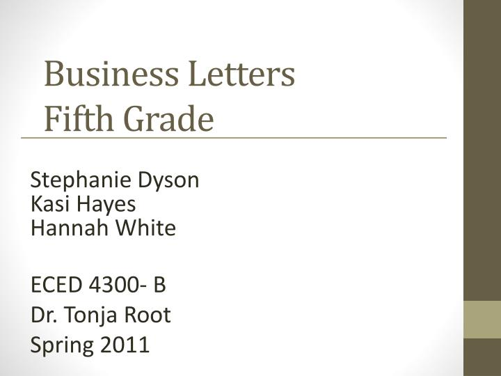 business letters fifth grade n.