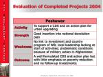evaluation of completed projects 20043