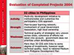 evaluation of completed projects 20045