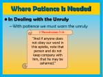 where patience is needed11