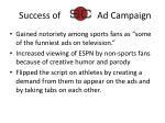 success of ad campaign