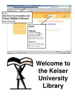 welcome to the keiser university library