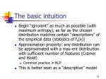 the basic intuition