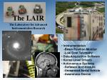 the lair the laboratory for advanced instrumentation research