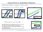 coercive force vs polarization frequency1