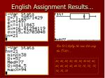 english assignment results