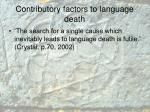 contributory factors to language death