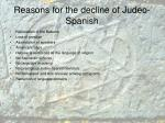 reasons for the decline of judeo spanish