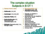 the complex situation subjects in b ot 1