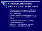 kalatalousopiskelijoiden suuntautuminen eri sektoreille