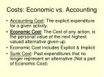 costs economic vs accounting