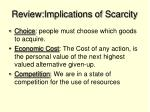 review implications of scarcity1