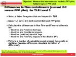 differences in firm curtailments current idc versus pfv pilot for tlr level 5