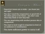compete when