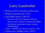 larry landweber