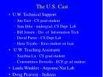 the u s cast