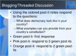 blogging threaded discussion
