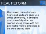 real reform