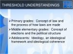 threshold understandings