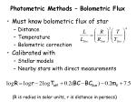 photometric methods bolometric flux