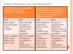 direct primary and the president