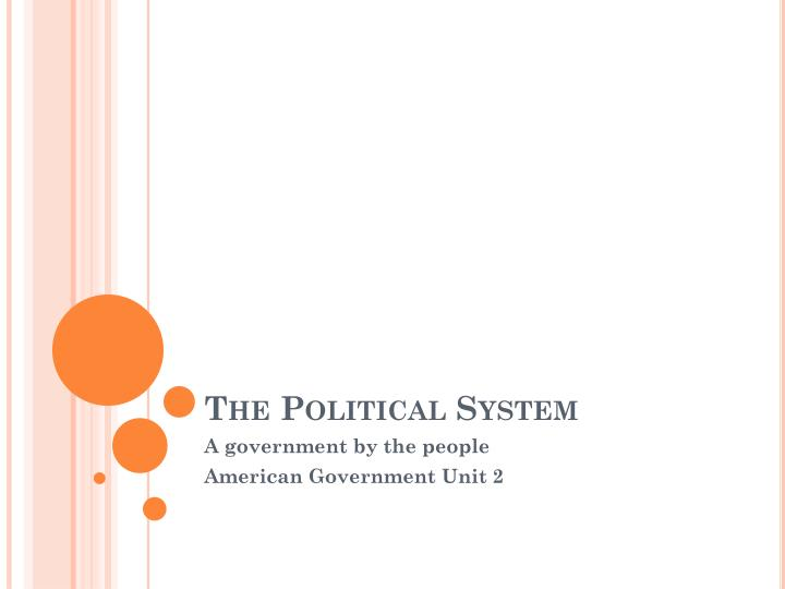 the political system n.