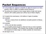 packet sequences