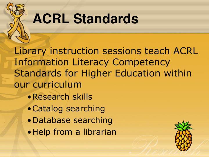 Acrl standards