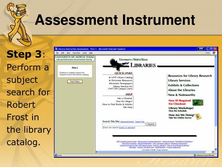Assessment Instrument