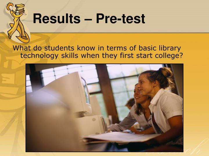 What do students know in terms of basic library technology skills when they first start college?