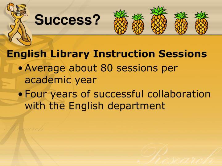 Success?