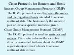 cisco protocols for routers and hosts