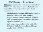 wan transport technologies