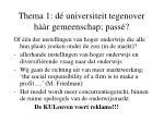 thema 1 d universiteit tegenover h r gemeenschap pass