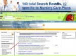 140 total search results 40 specific to nursing care plans
