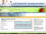 let s search for nursing care plans