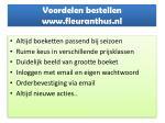voordelen bestellen www fleuranthus nl