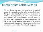 disposiciones adicionales ii