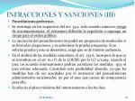 infracciones y sanciones iii
