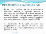 infracciones y sanciones vi