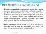 infracciones y sanciones vii