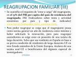 reagrupacion familiar iii