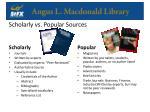 scholarly vs popular sources