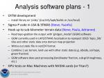analysis software plans 1