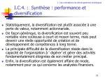 i c 4 synth se performance et diversification
