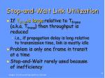 stop and wait link utilization1